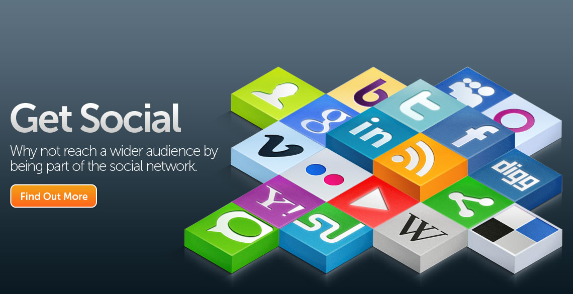 Get Social - Why not reach a wider audience by being part of the social netowrk.