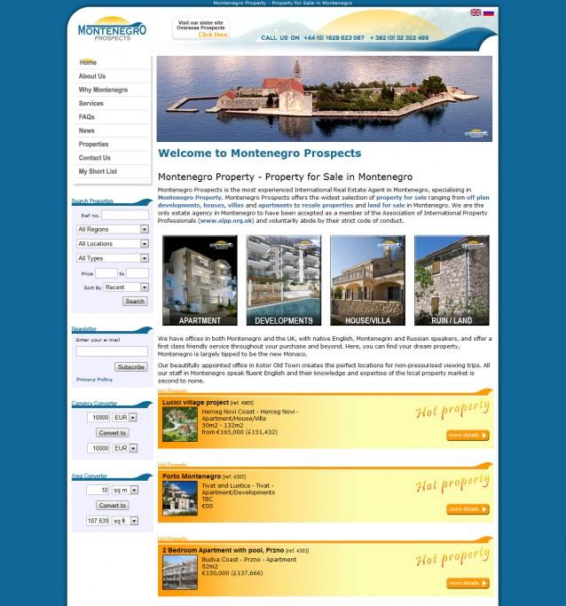 Montenegro Prospects - Home