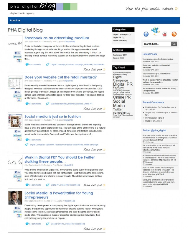 PHA Digital PR Blog - Home